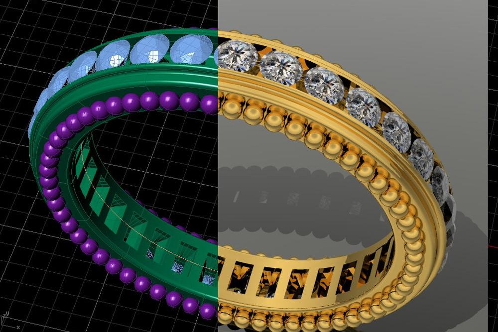 Создание 3D модели восковки ювелирного украшения