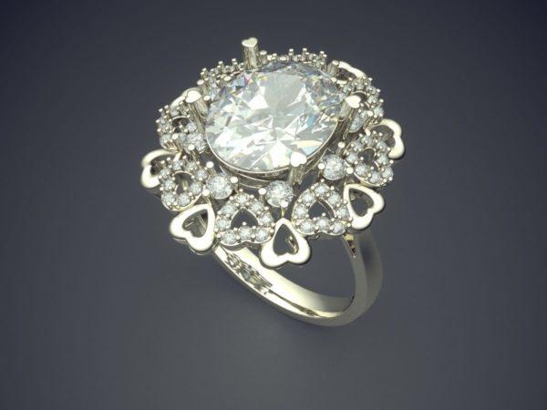 женские кольца  1191