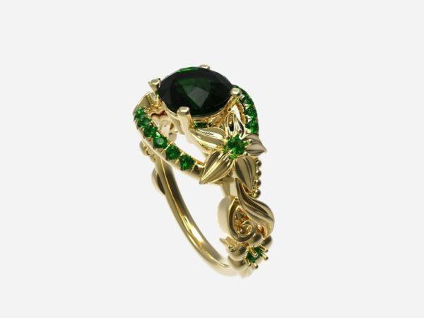 женское кольцои1046