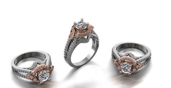 Женское кольцо 1069