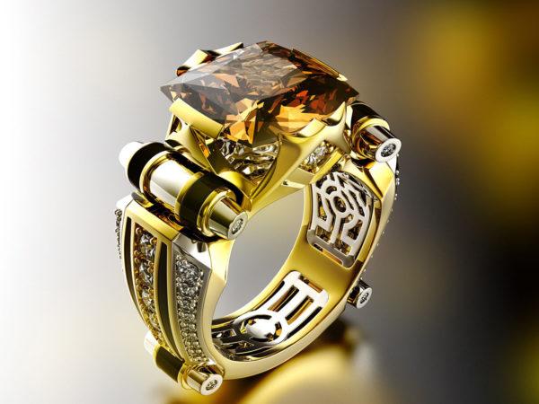 Мужское кольцо 011