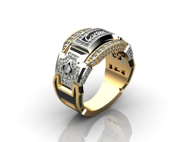 мужское  кольцо  1109