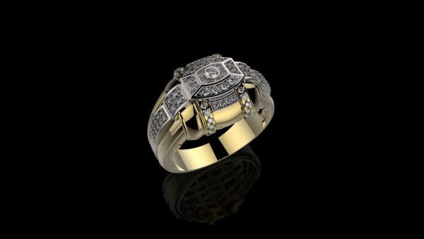 мужское кольцо 1145