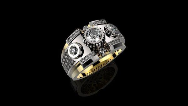 Мужское кольцо 1075
