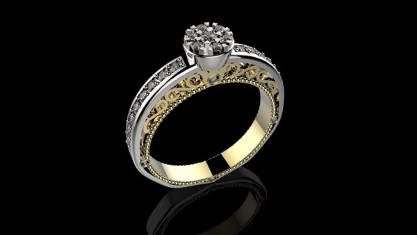 женские  кольца  1196