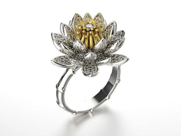 женское кольцо  1153