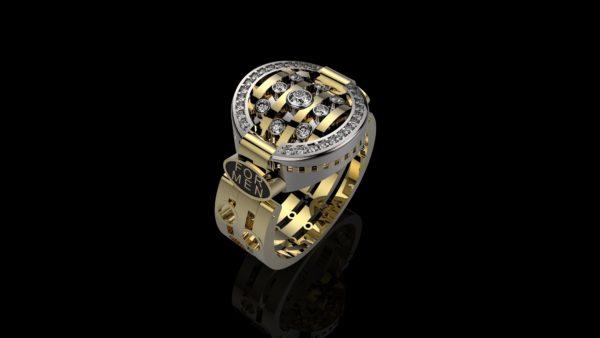 мужское  кольцо  1107