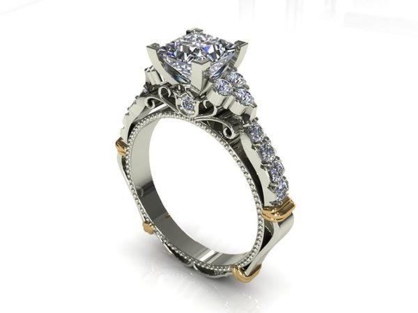женское кольцо  1077