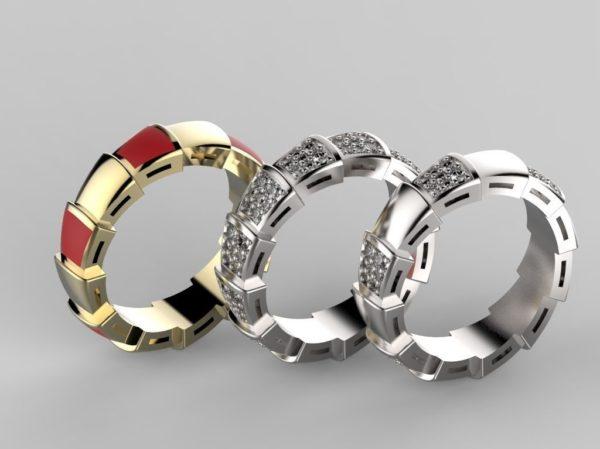 женское кольцо  1129