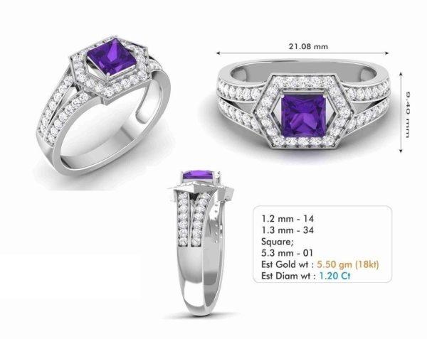Женское кольцо 1211