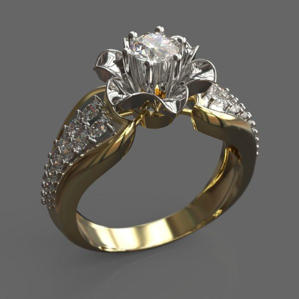 Женское кольцо 1055