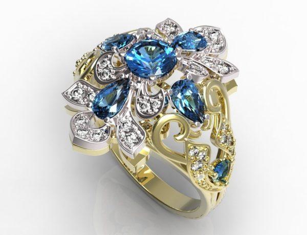 Женское кольцо 1197