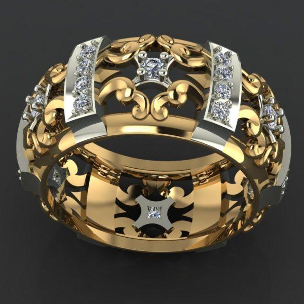 женское кольцо  1124