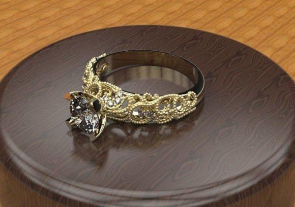 женское  кольцо  1104