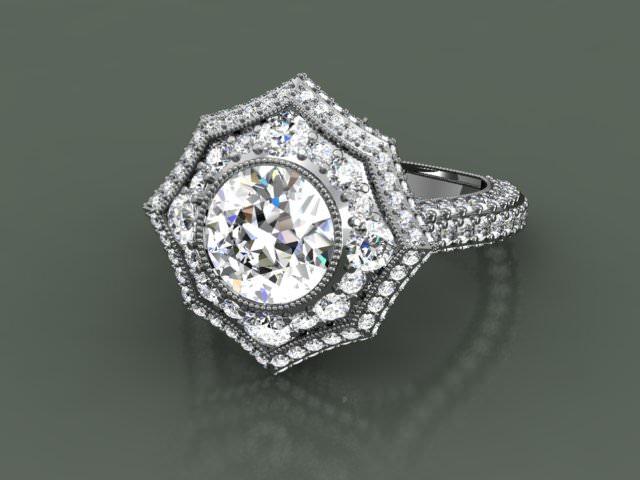 женское кольцо 1023
