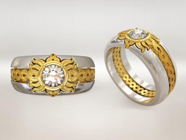 женское кольцо  1149