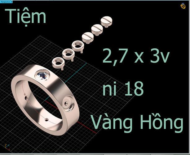 женское кольцо 1020