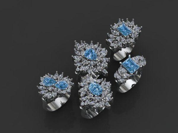 Женское кольцо 1252