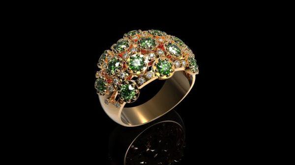 женские кольца  1277
