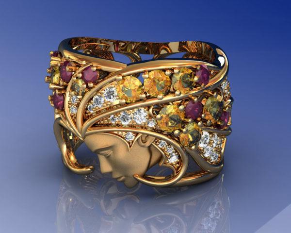 Женское кольцо 1384