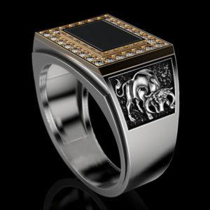 Мужское кольцо  1306