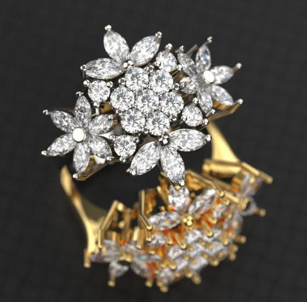 Женское кольцо 1234