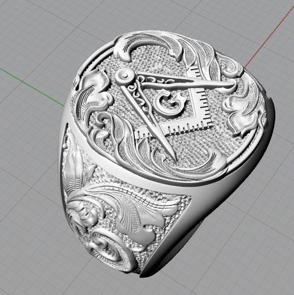 Мужское кольцо 371