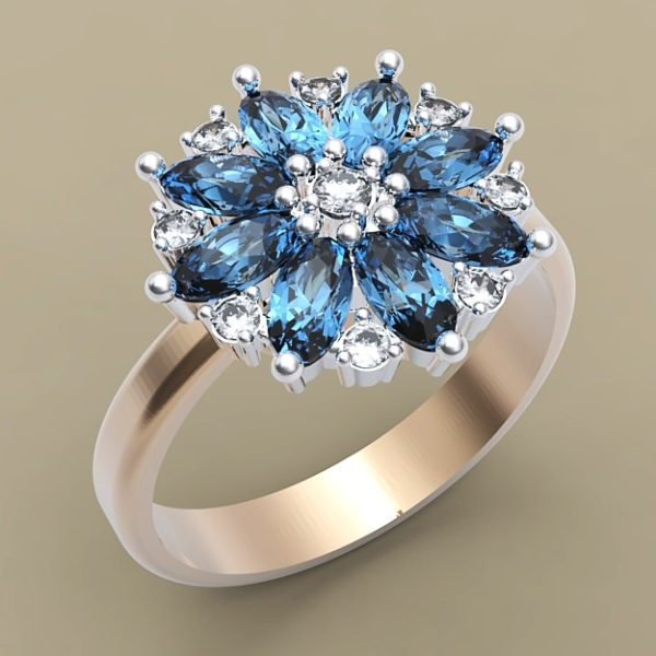 женские кольца  1254