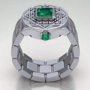 Мужское кольцо  1296