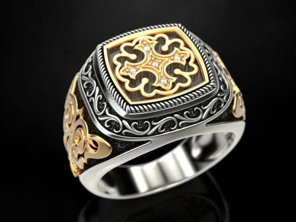 Мужское кольцо 1367
