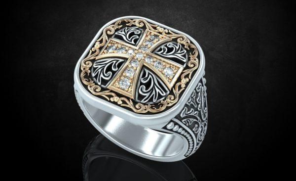 Мужское кольцо 1225