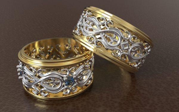 Обручальное кольцо 1268