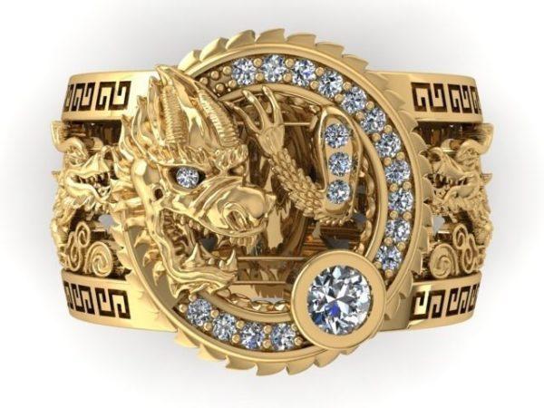 Мужское кольцо 1446