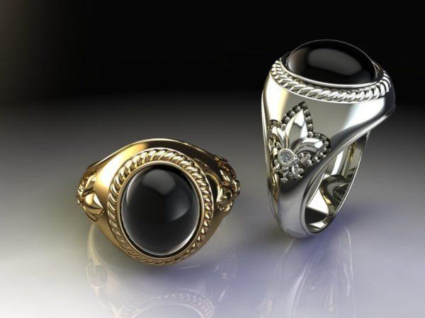 мужские кольца 1456