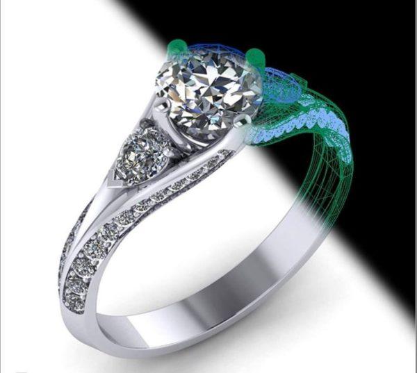 Женские кольца Н1163