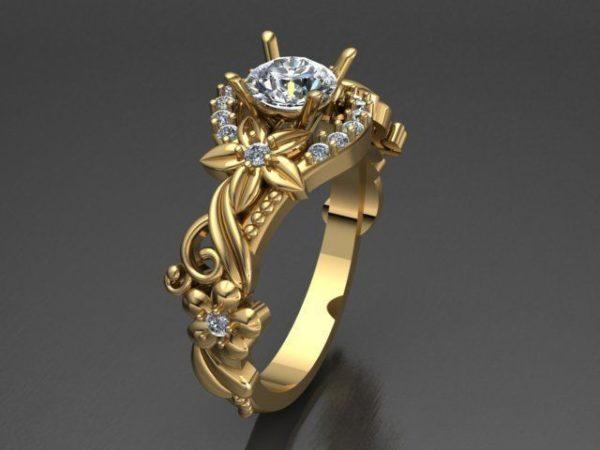 Женские кольца  Н183