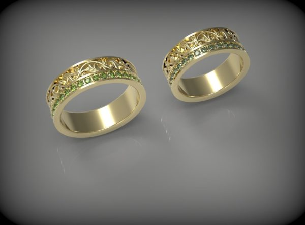 Обручальные кольца  Н045